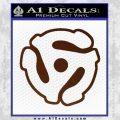 Dj 45 Adapter Spider Vinyl Record Decal Sticker BROWN Vinyl 120x120