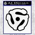 Dj 45 Adapter Spider Vinyl Record Decal Sticker Black Vinyl 120x120