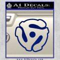 Dj 45 Adapter Spider Vinyl Record Decal Sticker Blue Vinyl 120x120