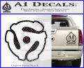 Dj 45 Adapter Spider Vinyl Record Decal Sticker Carbon FIber Black Vinyl 120x97