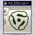 Dj 45 Adapter Spider Vinyl Record Decal Sticker Dark Green Vinyl 120x120