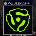 Dj 45 Adapter Spider Vinyl Record Decal Sticker Lime Green Vinyl 120x120