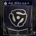 Dj 45 Adapter Spider Vinyl Record Decal Sticker Metallic Silver Emblem 120x120