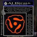 Dj 45 Adapter Spider Vinyl Record Decal Sticker Orange Emblem 120x120