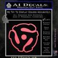 Dj 45 Adapter Spider Vinyl Record Decal Sticker Pink Emblem 120x120