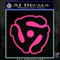 Dj 45 Adapter Spider Vinyl Record Decal Sticker Pink Hot Vinyl 120x120
