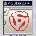 Dj 45 Adapter Spider Vinyl Record Decal Sticker Red 120x120