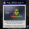 Dj Turntablism D1 Decal Sticker Glitter Sparkle 120x120