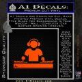 Dj Turntablism D1 Decal Sticker Orange Emblem 120x120