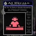 Dj Turntablism D1 Decal Sticker Pink Emblem 120x120