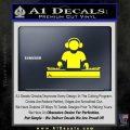 Dj Turntablism D1 Decal Sticker Yellow Laptop 120x120