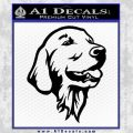Dog A 1 Decal Sticker Black Vinyl 120x120