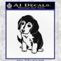 Dog Small And Cute Decal Sticker Black Vinyl 120x120