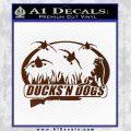 Ducks N Dogs Decal Sticker BROWN Vinyl 120x120
