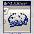 Ducks N Dogs Decal Sticker Blue Vinyl 120x120