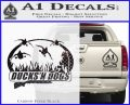 Ducks N Dogs Decal Sticker Carbon FIber Black Vinyl 120x97