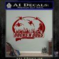 Ducks N Dogs Decal Sticker DRD Vinyl 120x120