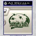 Ducks N Dogs Decal Sticker Dark Green Vinyl 120x120