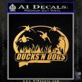 Ducks N Dogs Decal Sticker Gold Vinyl 120x120