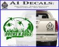 Ducks N Dogs Decal Sticker Green Vinyl Logo 120x97