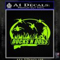 Ducks N Dogs Decal Sticker Lime Green Vinyl 120x120