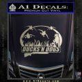 Ducks N Dogs Decal Sticker Metallic Silver Emblem 120x120
