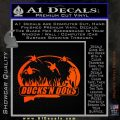 Ducks N Dogs Decal Sticker Orange Emblem 120x120