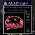 Ducks N Dogs Decal Sticker Pink Emblem 120x120