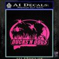 Ducks N Dogs Decal Sticker Pink Hot Vinyl 120x120