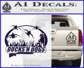 Ducks N Dogs Decal Sticker PurpleEmblem Logo 120x97