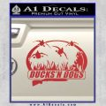 Ducks N Dogs Decal Sticker Red 120x120