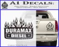 Duramax Diesel Decal Sticker GMC Carbon FIber Black Vinyl 120x97
