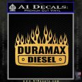 Duramax Diesel Decal Sticker GMC Gold Vinyl 120x120