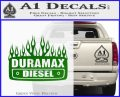 Duramax Diesel Decal Sticker GMC Green Vinyl Logo 120x97