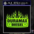 Duramax Diesel Decal Sticker GMC Lime Green Vinyl 120x120