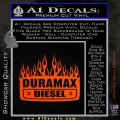 Duramax Diesel Decal Sticker GMC Orange Emblem 120x120