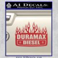 Duramax Diesel Decal Sticker GMC Red 120x120