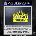 Duramax Diesel Decal Sticker GMC Yellow Laptop 120x120