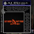 Eat More Fast Food Fishing Wide Decal Sticker Orange Emblem 120x120