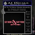 Eat More Fast Food Fishing Wide Decal Sticker Pink Emblem 120x120