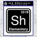 Element Of Deduction Sherlock Holmes Decal Sticker Black Vinyl 120x120