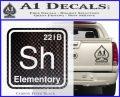 Element Of Deduction Sherlock Holmes Decal Sticker Carbon FIber Black Vinyl 120x97
