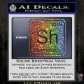 Element Of Deduction Sherlock Holmes Decal Sticker Glitter Sparkle 120x120