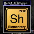 Element Of Deduction Sherlock Holmes Decal Sticker Gold Vinyl 120x120