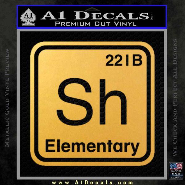 Element Of Deduction Sherlock Holmes Decal Sticker Gold Vinyl