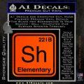 Element Of Deduction Sherlock Holmes Decal Sticker Orange Emblem 120x120