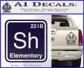 Element Of Deduction Sherlock Holmes Decal Sticker PurpleEmblem Logo 120x97