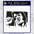 Elvis 68 Comeback Decal Sticker Black Vinyl 120x120