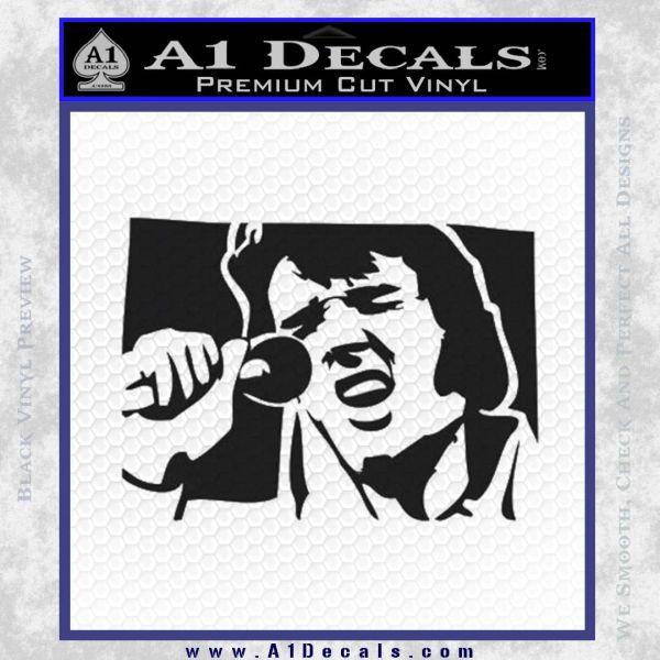 Elvis 68 comeback decal sticker black vinyl