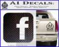 Facebook Customizable Decal Sticker Carbon FIber Black Vinyl 120x97